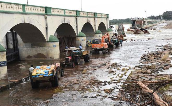 Image result for Kollidam river at Upper Anicut