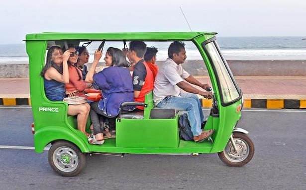 A free, green ride on the Vizag beach