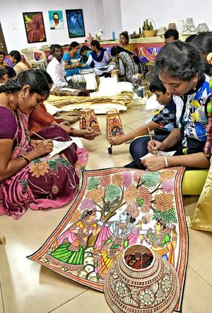 Many Talented Women Pursuing Art As A Hobby The Hindu