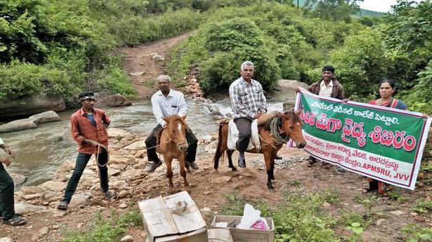 Riding horseback to treat tribal groups