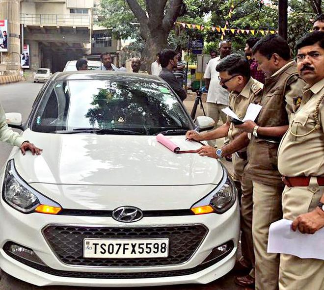 Officials Booking A Case Against The Owner Of Telangana Registered Car For Using Vehicle