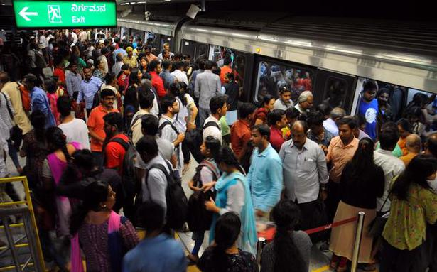 Metro maintained normal frequency on Monday