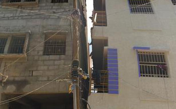 �Illegal� five-storey building in Ejipura tilts as pillars buckle
