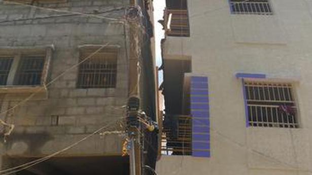 �Illegal� five-storey building in Ejipura tilts as pillars buckle