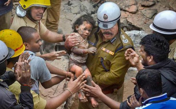 3-year-old survives Bengaluru building collapse