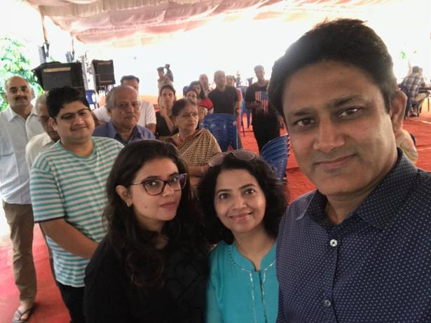 Anil Kumble posts a selfie from the polling booth in Bengaluru.