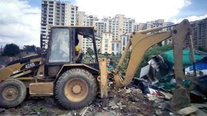 Over 100 makeshift houses razed in Bellandur