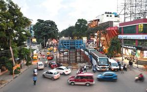 Flyover work stopped, Cong. alleges diversion of funds