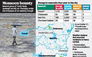 Parched Chennai lakes start receiving inflows after overnight rain