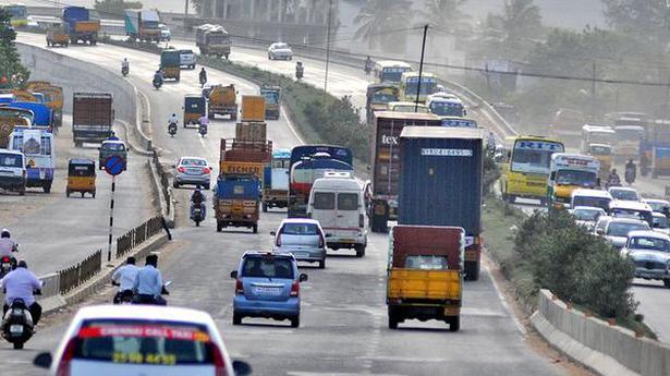 Work On Chennai Bengaluru Road Underway The Hindu