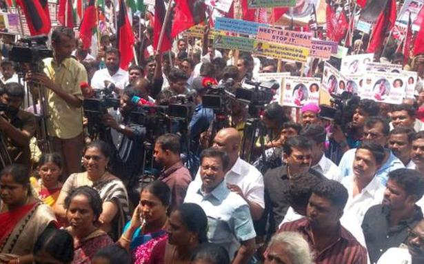 Opposition parties stage anti-NEET protest in Chennai