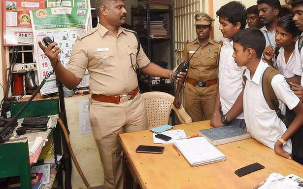 School students get a peek into police station