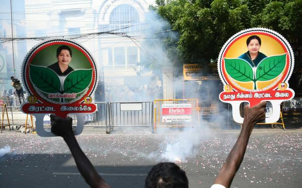 'Two leaves' symbol goes to unified AIADMK