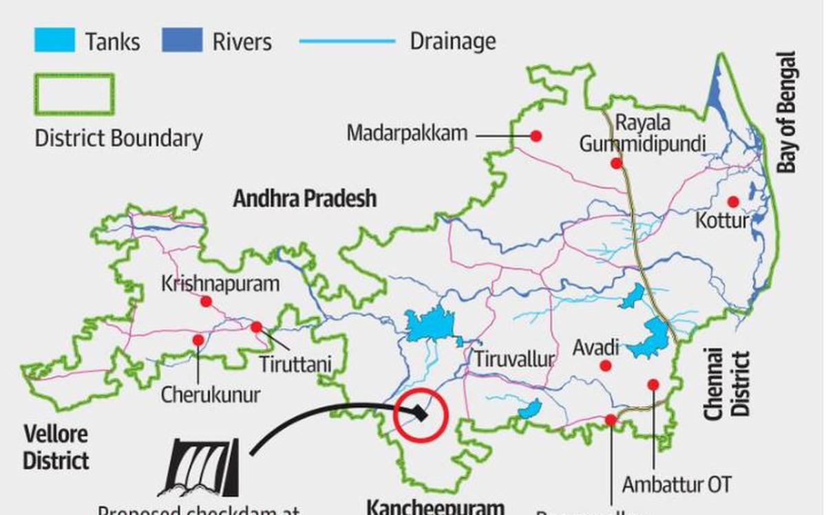 Image result for Unpolluted stretch of Cooum to get another check dam