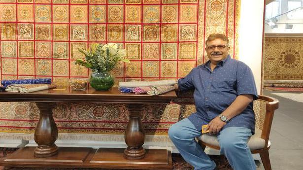 This Kashmiri carpet maker brings Persian rugs to Chennai - The Hindu