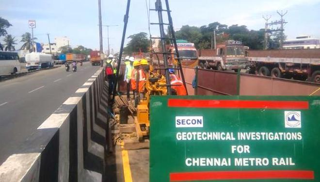Soil tests begin for phase ii of chennai metro rail the hindu the project will be taken up in stages madhavaram to cmbt and madhavaram to shollinganallur solutioingenieria Image collections