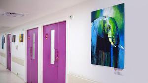 Hospital walls nurture art