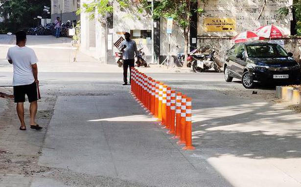 Colony in Chennai finds a solution to parking problem at intersections