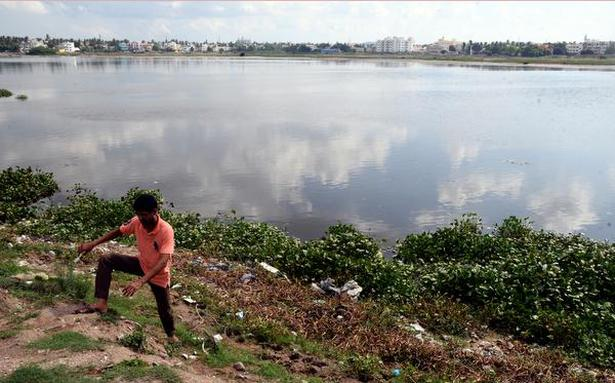 Clear encroachments at Sembakkam lake, demand residents