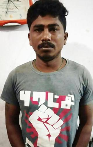 Accused Arjun, a contract worker at the SRM College.
