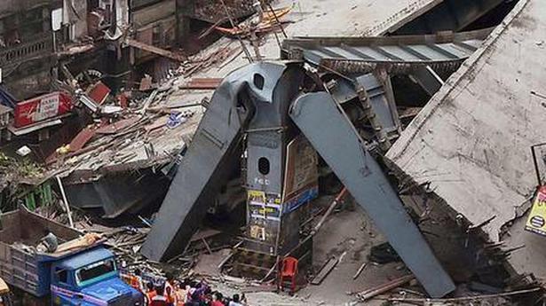 'Damaged Kolkata flyover may collapse any time' - The Hindu