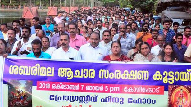 Devotees demand protection of custom at Sabarimala