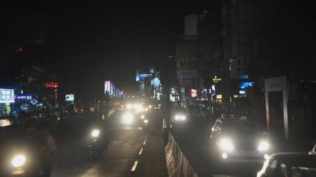 Parts of city in dark as street lights fail