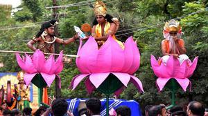 Colourful processions mark Sree Krishna Jayanthi celebrations