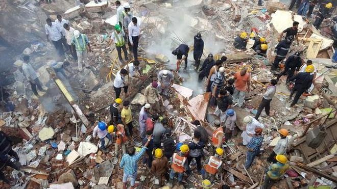 Image result for Seven killed, 15 injured in Mumbai building collapse; many feared trapped,
