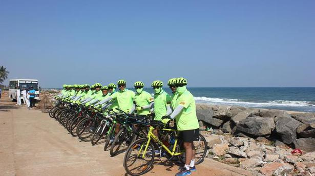 Cycle expedition promotes awareness of coastal security for Coastal burglar alarm