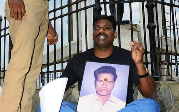 Protest against release of Rajiv case convicts