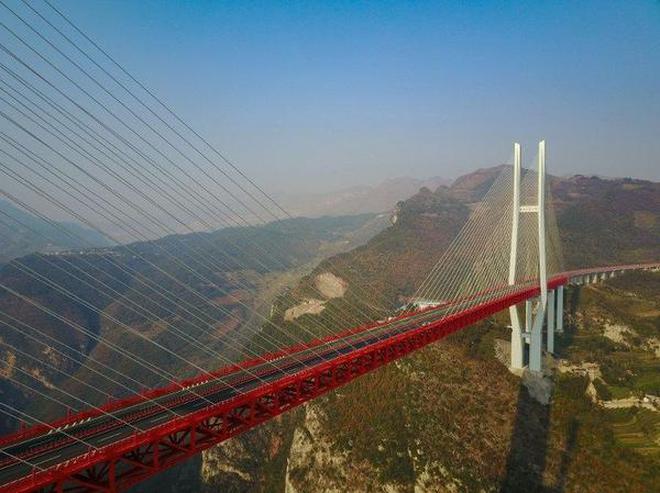world s highest bridge opens in china the hindu