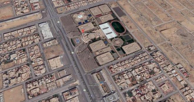 Google Maps image locates Kingdom Schools in Riyadh.