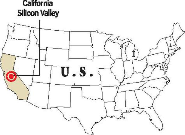 Slowdown In Software Central IndianAmericans In The Silicon - Us map silicon valley