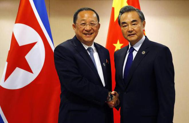 Image result for China's foreign minister has told his North Korean counterpart