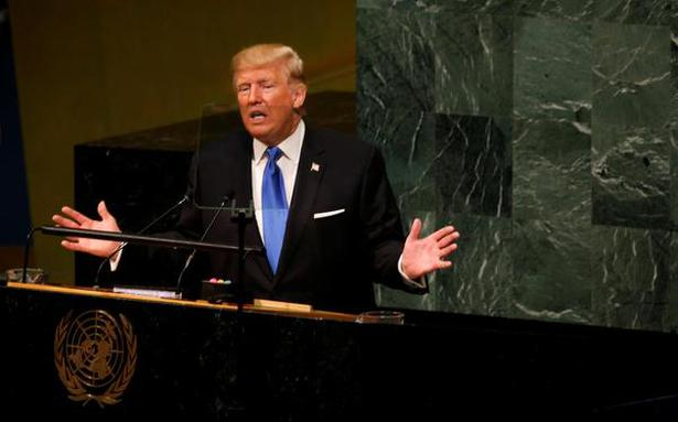 Trump threatens to destroy North Korea, undo the Iran nuclear deal