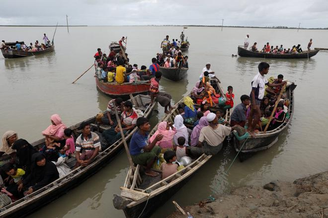 Image result for Bangladesh : At Least 12 dead as boat carrying Rohingya refugees from Myanmar overturned