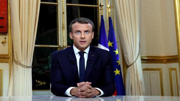 Macron challenges Trump on Iran, disowns Weinstein