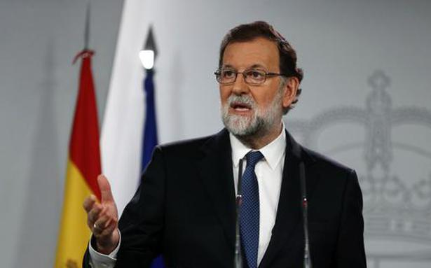 Spain PM Mariano Rajoy says will sack Catalan government, call regional elections