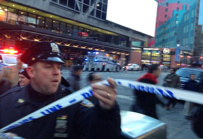 One held after subway blast near Times Square in New York City