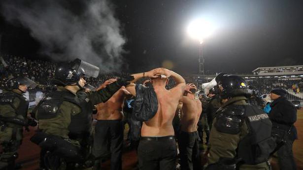 26 people arrested after massive soccer fan brawl in Serbia
