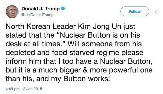 president trump s nuclear button