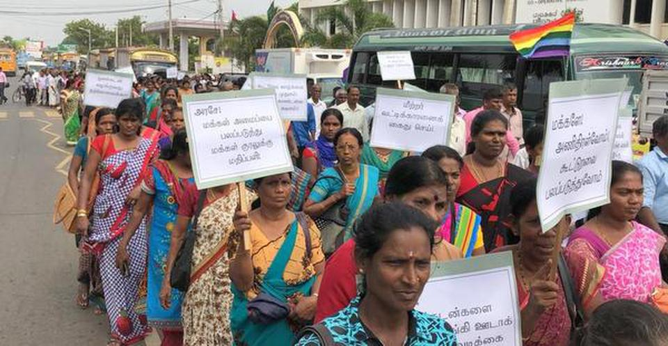 Thousands rally over mounting debt in northern Sri Lanka
