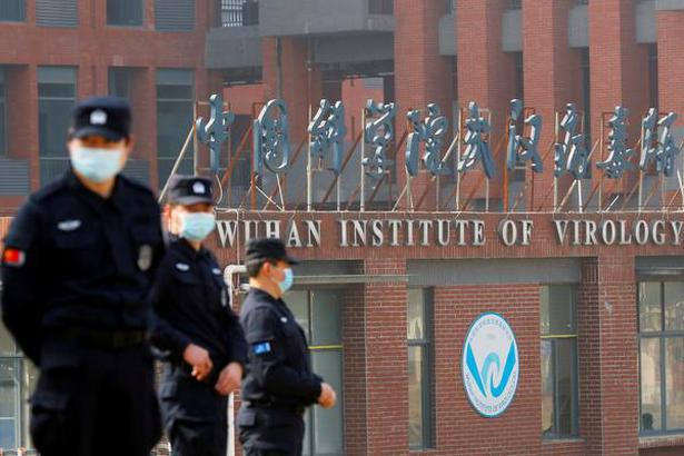 Security personnel keep watch outside the Wuhan Institute of Virology in Wuhan, Hubei province, China. File photo for representation.