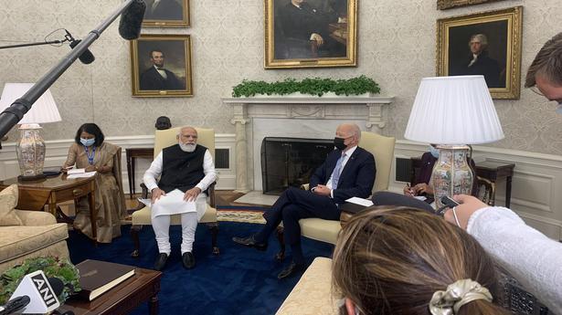 PM Modi in U.S. live updates | Modi holds first bilateral meeting with Biden