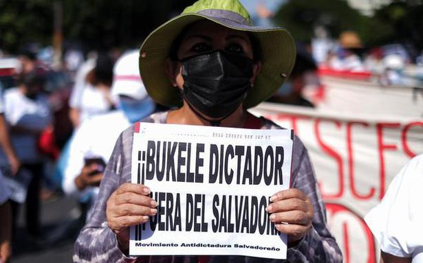 Thousands in El Salvador join protests against Bukele government