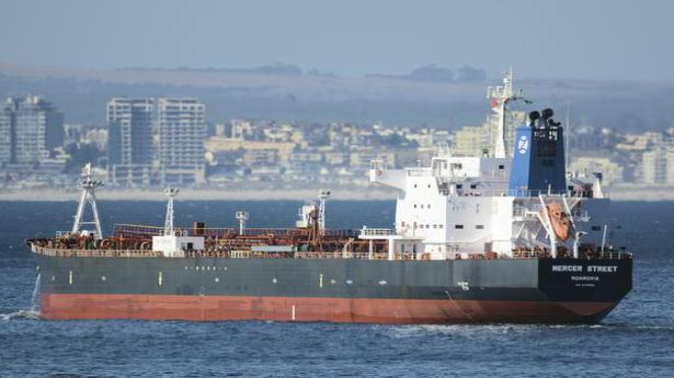 U.S. Navy says drone strike hit oil tanker Mercer Street off Oman, killing two