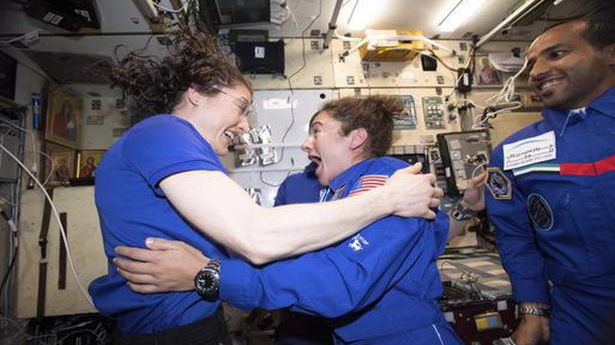 Watch | First all-female spacewalk