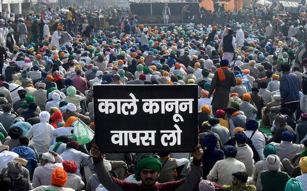 Dilli Chalo | Farmers demand special Parliament session to repeal farm laws - The Hindu
