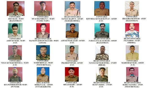 Portraits of CRPF Jawans killed in Pulwama attack.